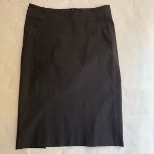 Theory black pencil skirt, size small